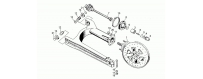 Swing arm-rear wh., alloy