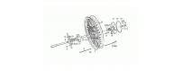 Rear wheel, spokes