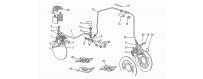 Impianto freno ant.sx - post