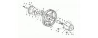 Rear wheel, alloy