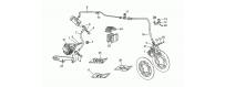 Front LH-rear brake system