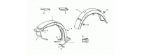 Front-rear mudguards