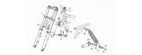 Rear suspension-fork
